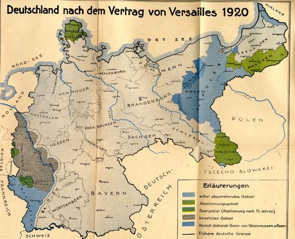 Deutsche Karte Vor Dem 1 Weltkrieg.Versailler Vertrag 1919 20 Historisches Lexikon Bayerns