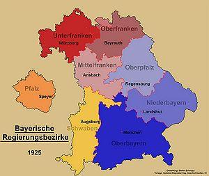 Schwaben Karte Deutschland.Regierungsbezirke Historisches Lexikon Bayerns