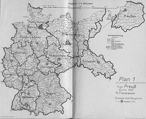 Neugliederung Des Reiches 1919 1945 Historisches Lexikon Bayerns