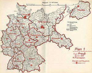 weimarer republik karte Reichsreform (Weimarer Republik) – Historisches Lexikon Bayerns