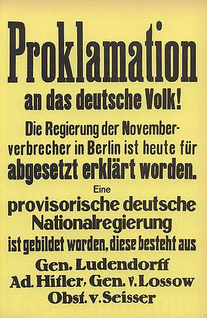 Hitlerputsch 89 November 1923 Historisches Lexikon Bayerns