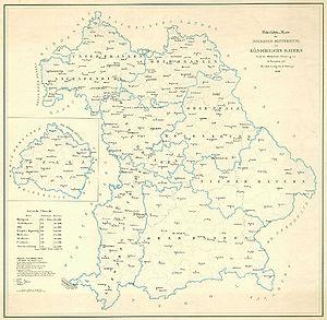 München Karte Bayern.Staatsgebiet 19 20 Jahrhundert Historisches Lexikon Bayerns