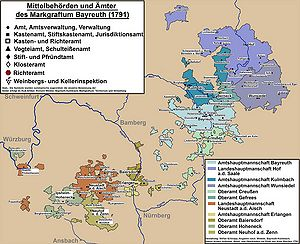 Oberfranken Karte.Bayreuth Kulmbach Markgraftum Territorium Und Verwaltung