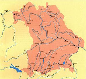 Bayern Karte Flüsse.Flößerei Historisches Lexikon Bayerns